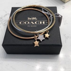 Coach bangle set